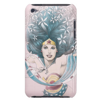 Wonder Woman and Flowers Barely There iPod Covers