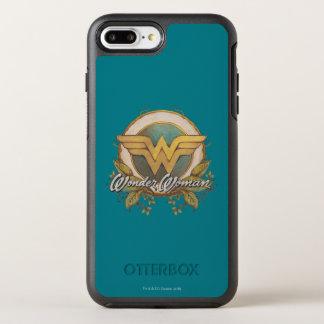 Wonder Woman Foliage Sketch Logo OtterBox Symmetry iPhone 8 Plus/7 Plus Case