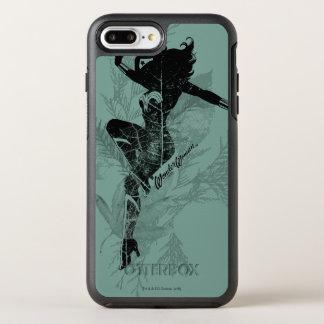 Wonder Woman Landing Foliage Graphic OtterBox Symmetry iPhone 8 Plus/7 Plus Case