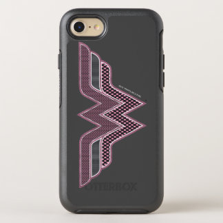 Wonder Woman Pink and Black Checker Mesh Logo OtterBox Symmetry iPhone 8/7 Case