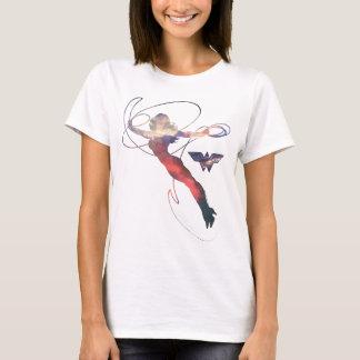 Wonder Woman Sunset Sky Silhouette T-Shirt