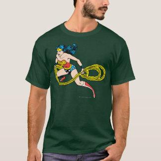 Wonder Woman Swinging Lasso Left T-Shirt