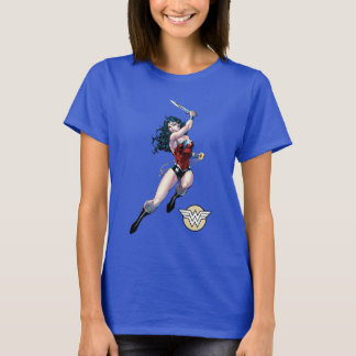 Wonder Woman Swinging Sword T-Shirt