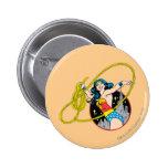 Wonder Woman with City Background 6 Cm Round Badge