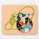 Wonder Woman with City Background Mouse Pad