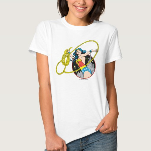 Wonder Woman with City Background Shirts