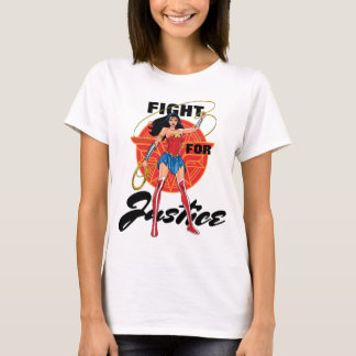 Wonder Woman With Lasso - Fight For Justice T-Shirt