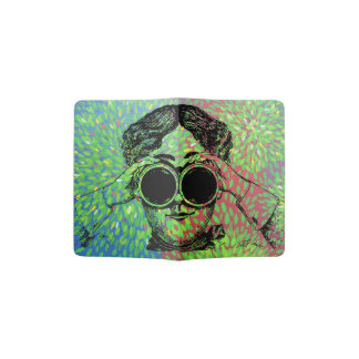 """Wonder World"" - Lady with Binoculars Passport Holder"