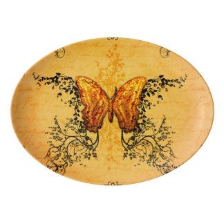 Wonderful butterflies porcelain serving platter