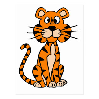 Wonderful Cartoon Tiger Design Post Cards