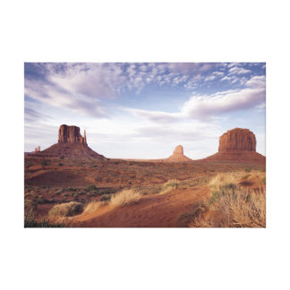 Wonderful Monument Valley View Arizona Stretched Canvas Print