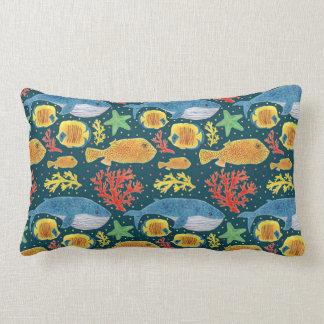 Wonderful Sea Life Pattern Lumbar Cushion