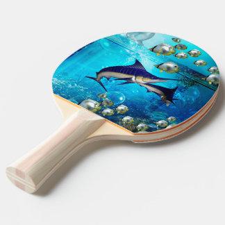 Wonderful sealife ping pong paddle