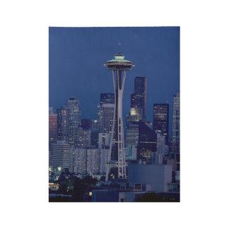 Wonderful Seattle Washington Downtown Space Needle Wood Poster