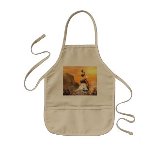 Wonderful view over the sea to the rock kids apron