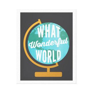 Wonderful World Globe Canvas Print