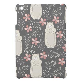 Wonderland Bears & Flowers Pattern iPad Mini Covers