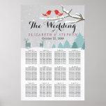 Wonderland Birds Deer Winter Wedding Seating Chart