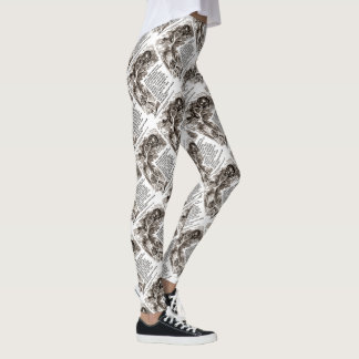 Wonderland Don't Want To Go Among Mad People Quote Leggings