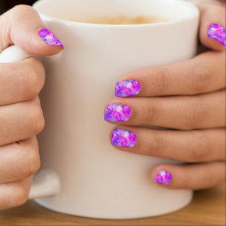 Wondrous Watercolors Pink & Purple Minx Nail Art