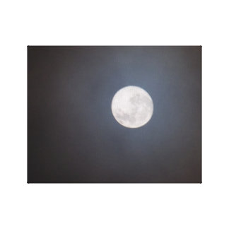 Wonky Moon Canvas Prints