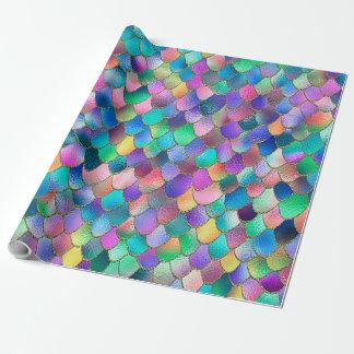 Wonky Rainbow Glitter Metal Mermaid Scales