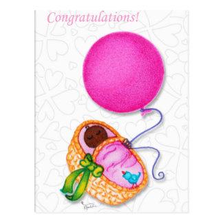 Woobie Congratulations Baby Shower Postcard