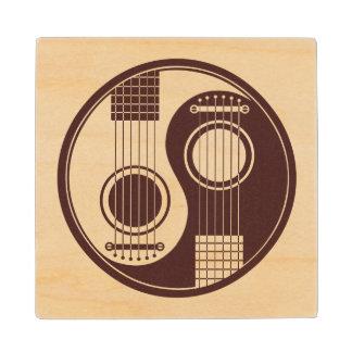 Wood Acoustic Guitars Yin Yang Wood Coaster