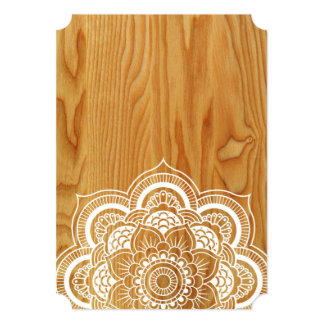 Wood and Mandala Card