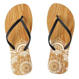 Wood and Mandala Thongs
