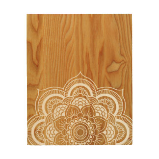 Wood and Mandala Wood Wall Art