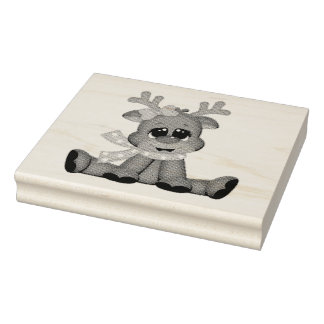 Wood Art Stamps/Baby Rudolph Rubber Stamp