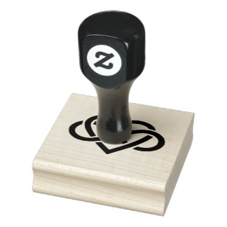 Wood Art Stamps/Infinity Heart Rubber Stamp