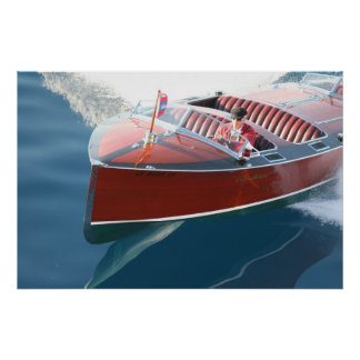 Wood Boats Poster