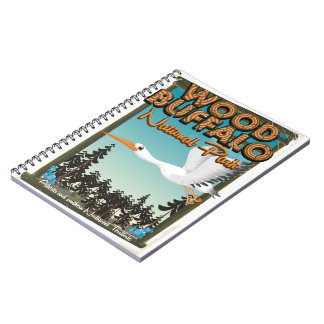 Wood Buffalo National Park travel poster Notebook