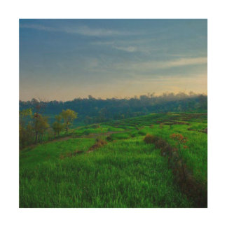 Wood Canvas Landscape Decoration by NAVIN JOSHI