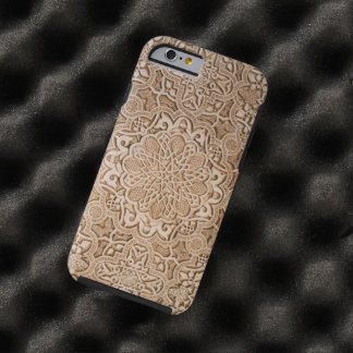 wood carved textures tough iPhone 6 case