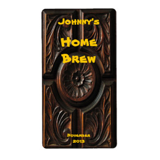 Wood Carving Beer Label Shipping Label