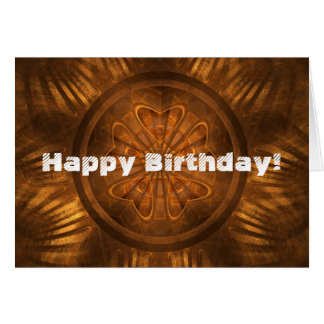 Wood Carving Birthday Greeting Card