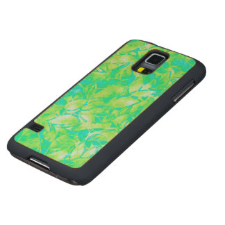 Wood Case Samsung G S5 Grunge Art Floral Abstract