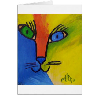 Wood Cat by Piliero Card