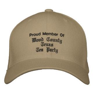 Wood County Texas Tea Party Ball Caps Embroidered Baseball Caps