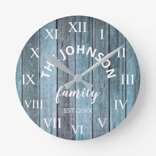 Rustic Beach Decor Wall Clocks Zazzle Co Nz