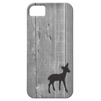 Wood deer fawn black rustic chic silhouette cute barely there iPhone 5 case