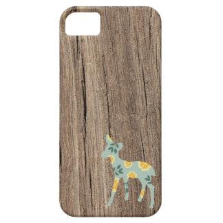 Wood deer fawn cute folk art fair isle pattern iPhone 5 case