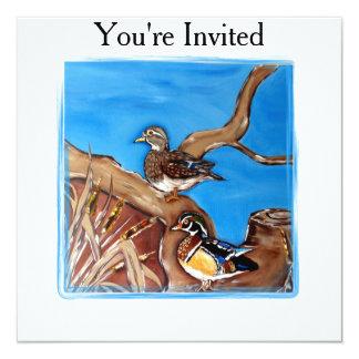 Wood Ducks 13 Cm X 13 Cm Square Invitation Card