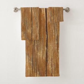 Wood Grain Bath Towel Set