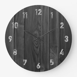 Wood Look Planks Large Clock
