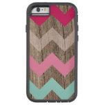 Wood pastel chevron zigzag zig zag pattern chic tough xtreme iPhone 6 case