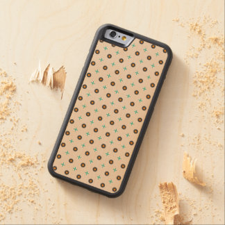 Wood pattern carved maple iPhone 6 bumper case